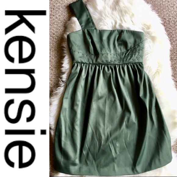 Kensie Dresses & Skirts - Green One Strap Embellished KENSIE Mini Dress
